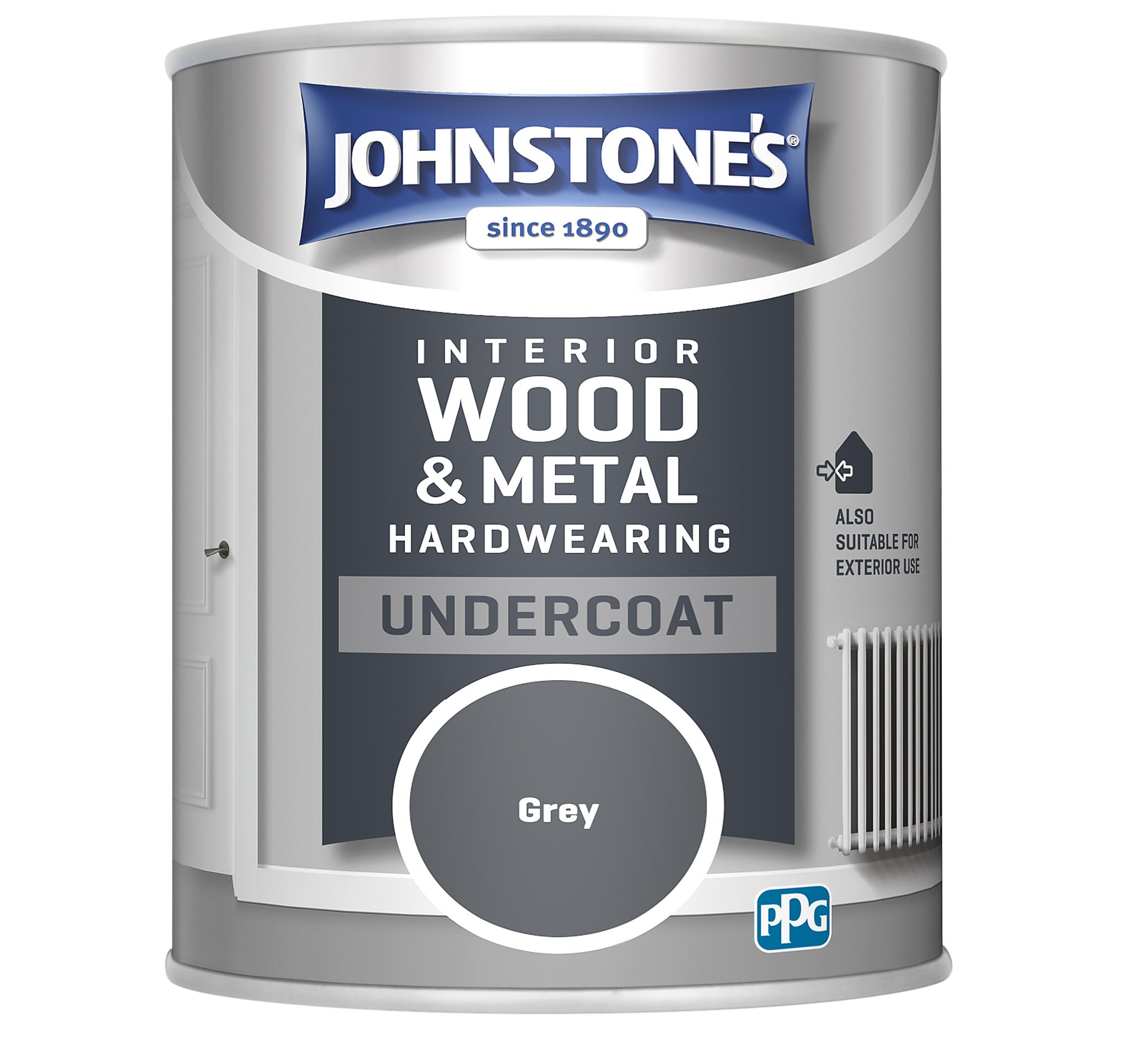 Johnstones 750ml Hardwearing Undercoat - Grey