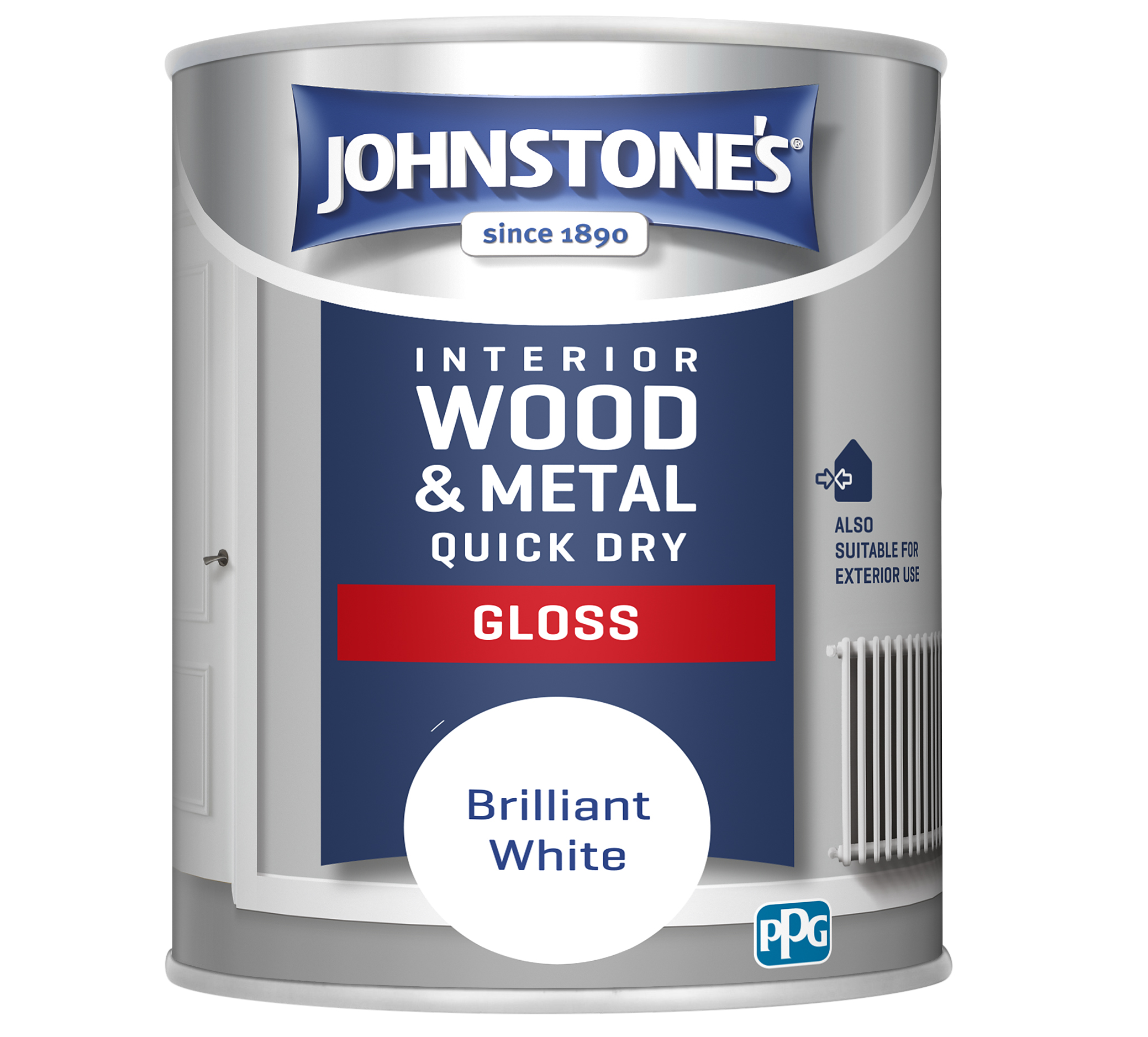 Johnstones 750ml Quick Dry Gloss Paint - Brilliant White