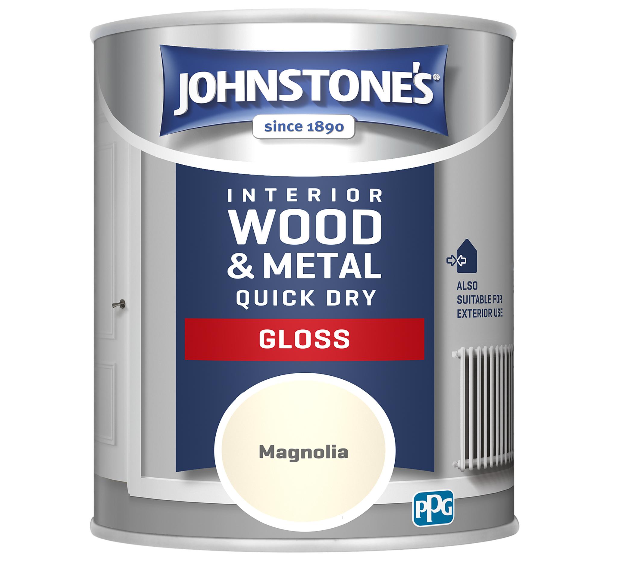 Johnstones 750ml Quick Dry Gloss Paint - Magnolia