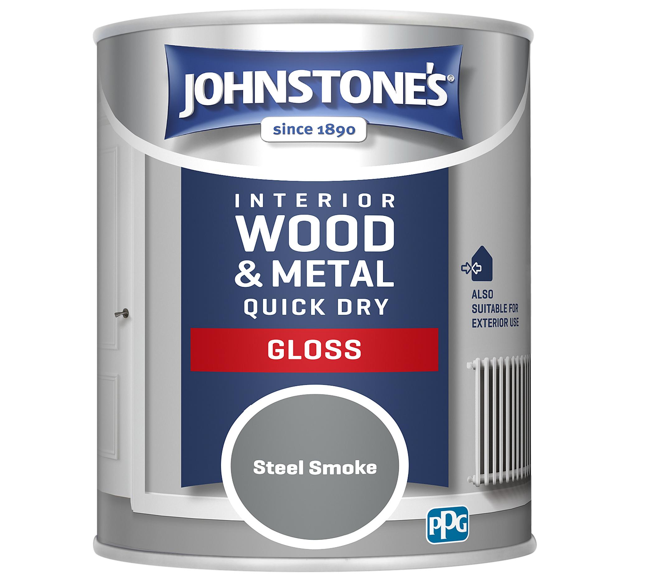 Johnstones 750ml Quick Dry Gloss Paint - Steel Smoke