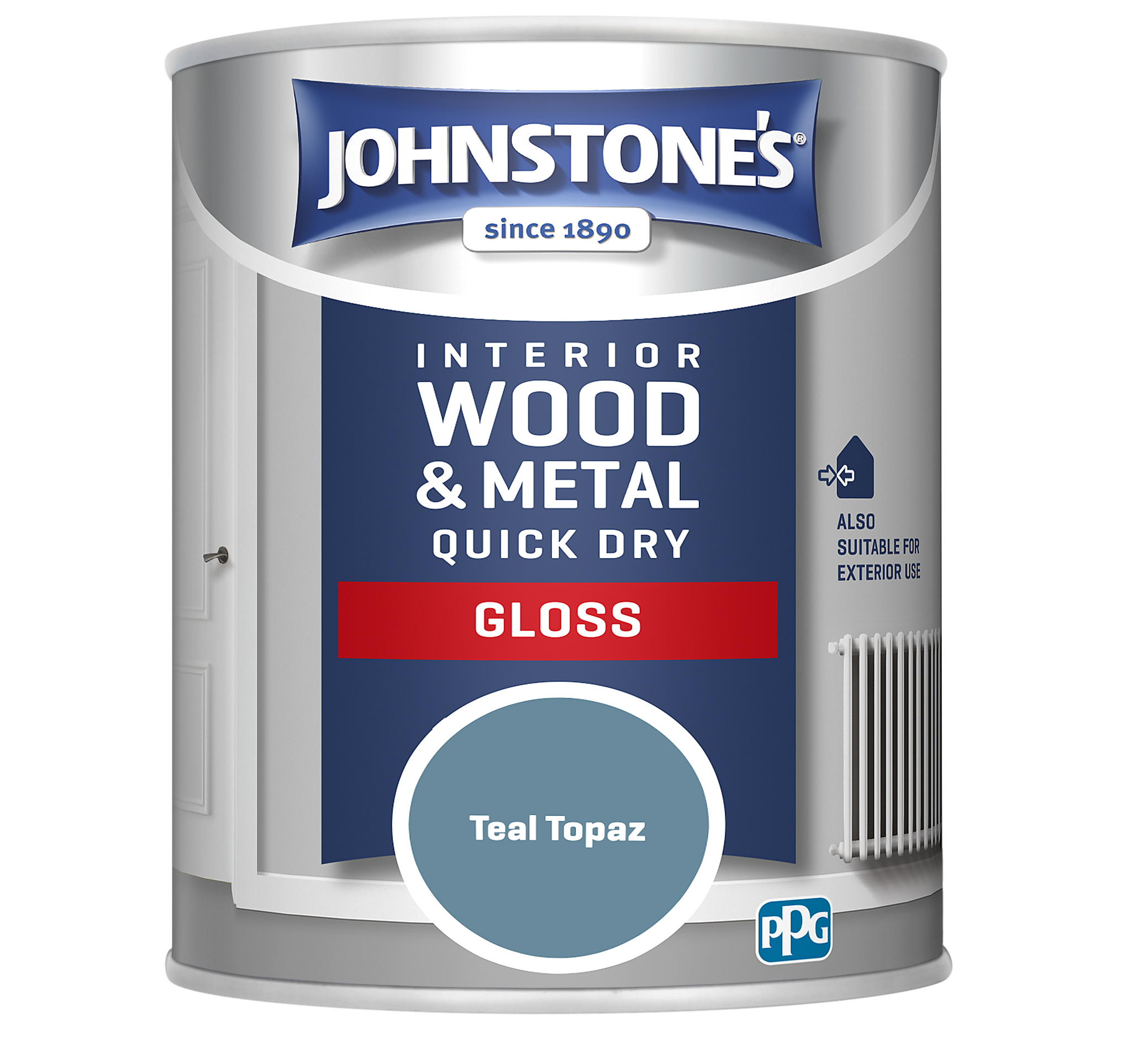 Johnstones 750ml Quick Dry Gloss Paint - Teal Topaz