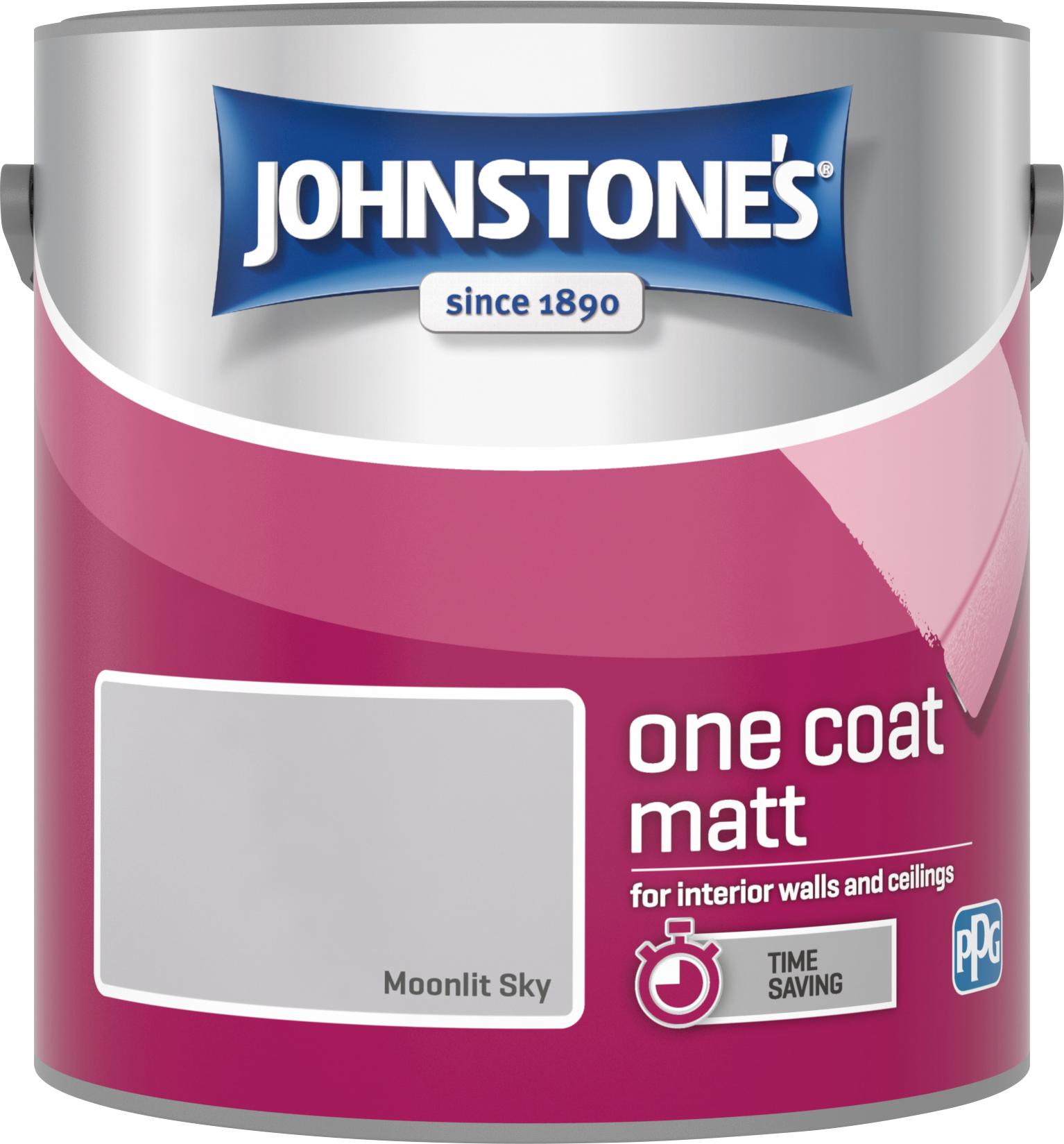 Johnstone's 305993 2.5 Litre One Coat Matt Emulsion Paint - Moonlit Sky