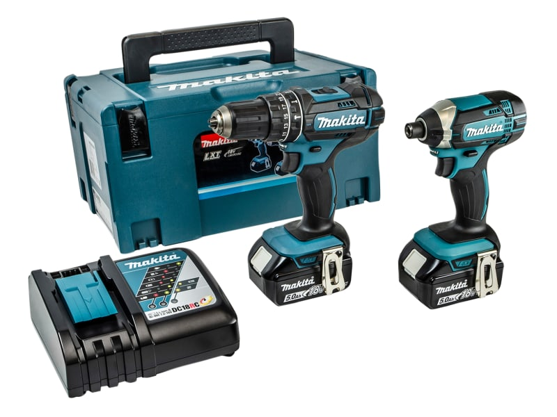 Makita DLX2131TJ Twin Pack 18V 2 x 5.0Ah Li-ion