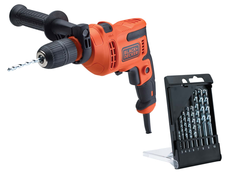 Black & Decker BEH200TB Heritage Drill with Drill Bit Set 500W 240V