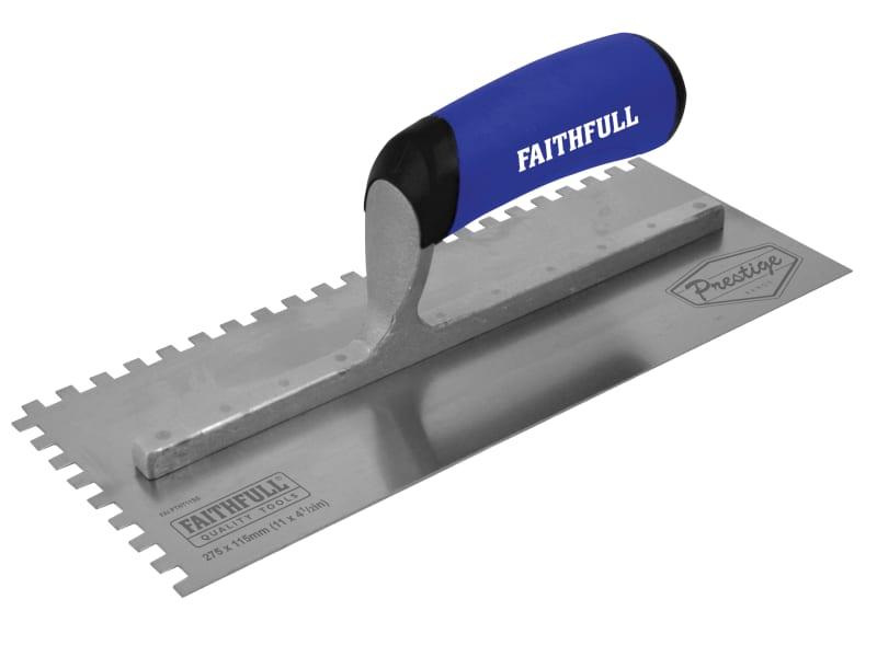 Faithfull Prestige Notched Trowel 275 x 115mm (11 x 4.1/2in)