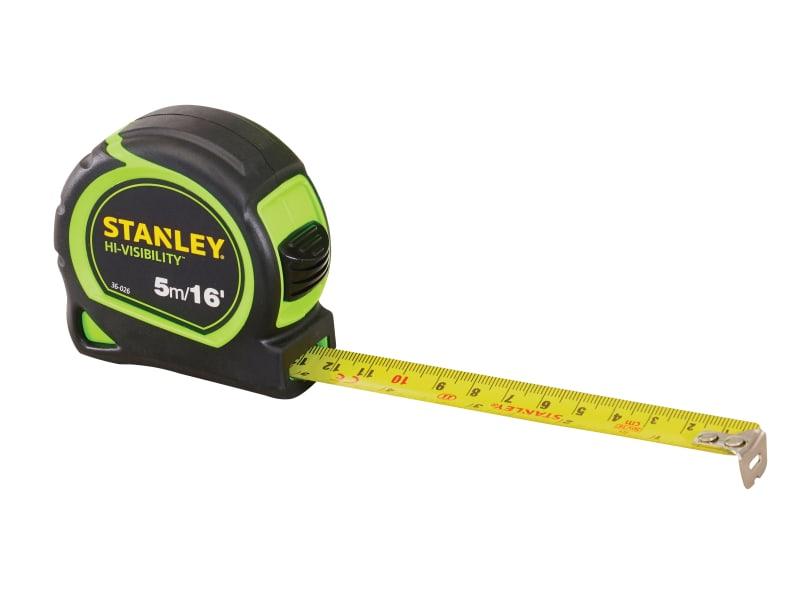 Stanley Tools Tylon Hi-Viz Pocket Tape 5m/16ft (Width 19mm)
