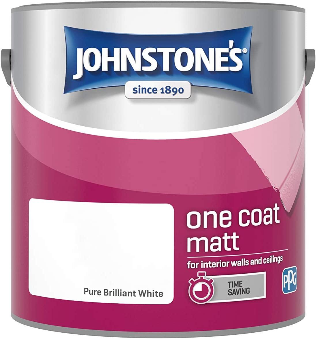 Johnstone's 2.5 Litre One Coat Matt - Pure Brilliant White