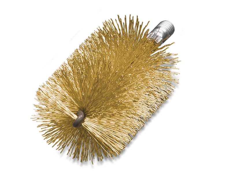 Lessmann Threaded Tube Brush 30mm Brass Wire