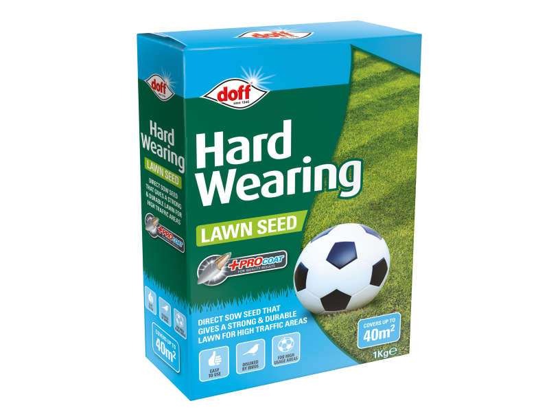 DOFF Hard Wearing Lawn Seed 1kg