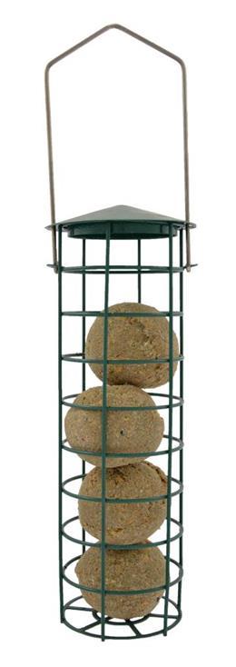 Green Jem Metal Hammertone Fat Ball Bird Feeders