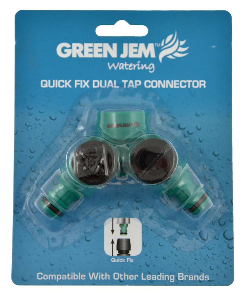 Green Jem Quick Fix Dual Shut Off Connector