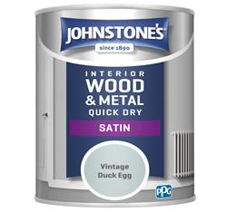 Johnstones 750ml Quick Dry Satin Paint - Vintage Duck Egg