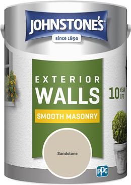 Johnstone's 307123 5 Litre Smooth Masonry Paint - Sandstone