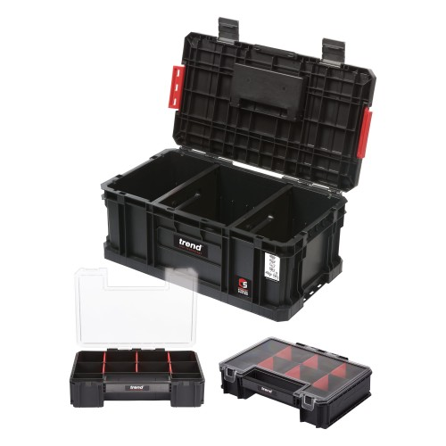 Trend Modular Storage Compact Toolbox 200 with Mini Organisers
