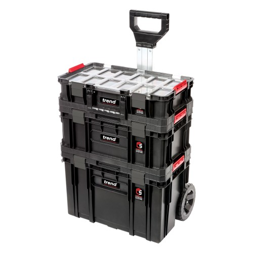 Trend Modular Storage Compact Cart Set 3pc