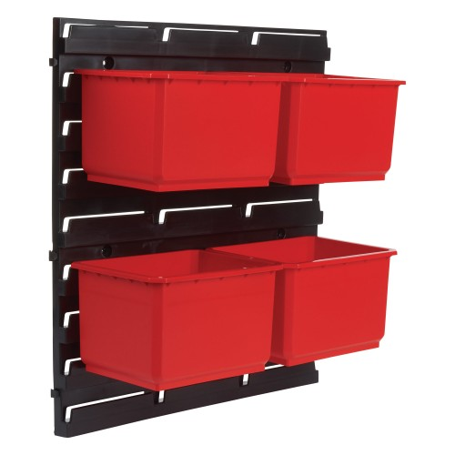Trend Pro Storage Wall Rack With 4 Large Bins