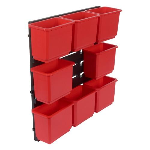 Trend Pro Storage Wall Rack with 8 Medium Bins