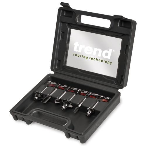 Trend 6 piece router cutter starter set - 1/4in shank