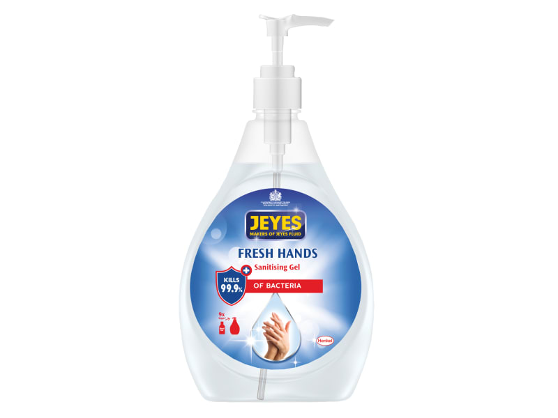 Jeyes Fresh Hands Sanitising Gel 480ml