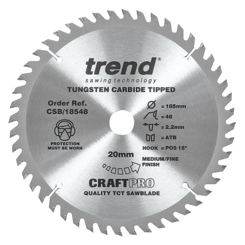 Trend Craft Saw Blade 185mm X 48 Teeth X 20mm