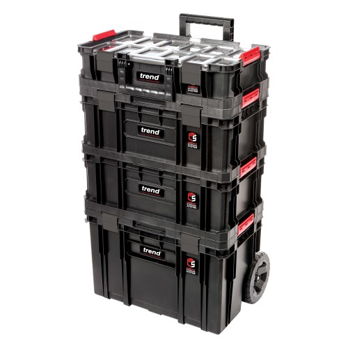 Trend Modular Storage Compact Cart Set 4pc