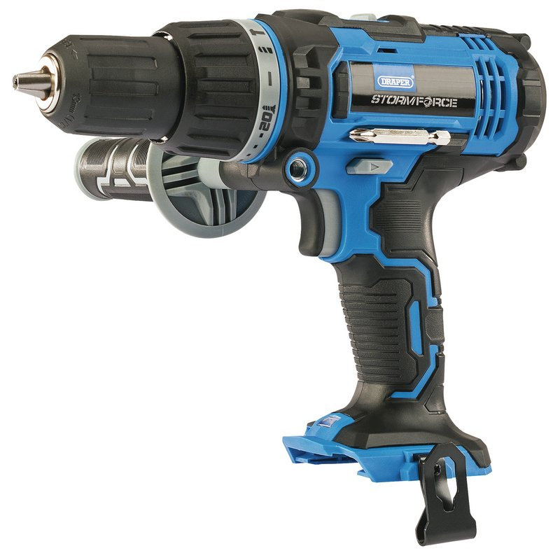 Draper Stormforce 20v Cordless Combi Drill + 2 X 2.0ah Batteries, Charger And Tool Bag (320mm)