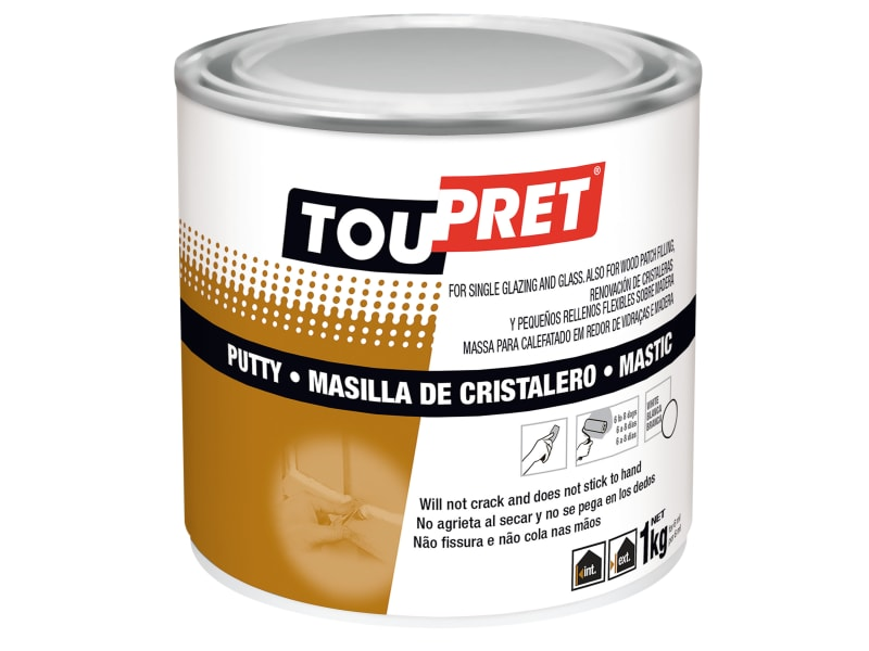 Toupret Glazing Putty White 1kg