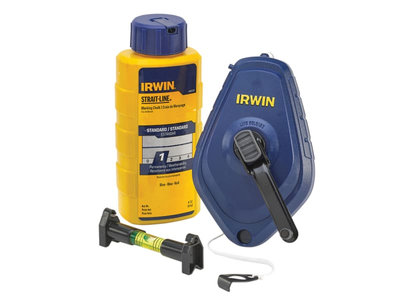 IRWIN STRAIT-LINE Chalk Line, Chalk & Level Set