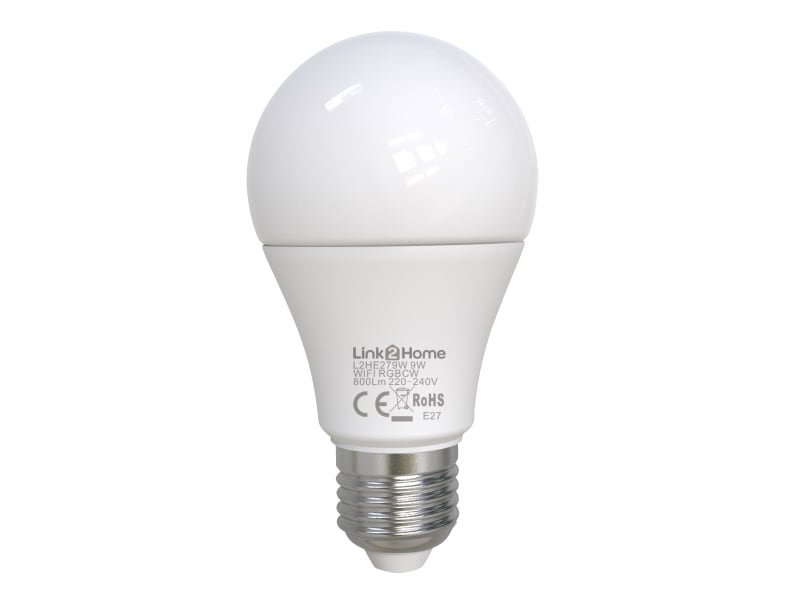 Link2home Wi-fi Led Es (e27) Opal Gls Dimmable Bulb, White + Rgb 800 Lm 9w