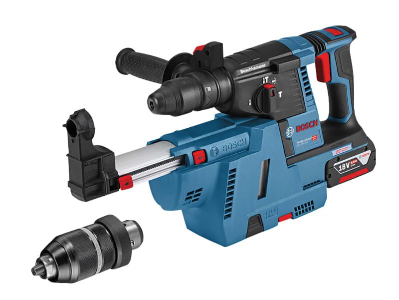 Bosch GBH 18V-26 F SDS Plus Rotary Hammer 18V 2 x 6.0Ah Li-ion + QCC & GDE 18 V-16