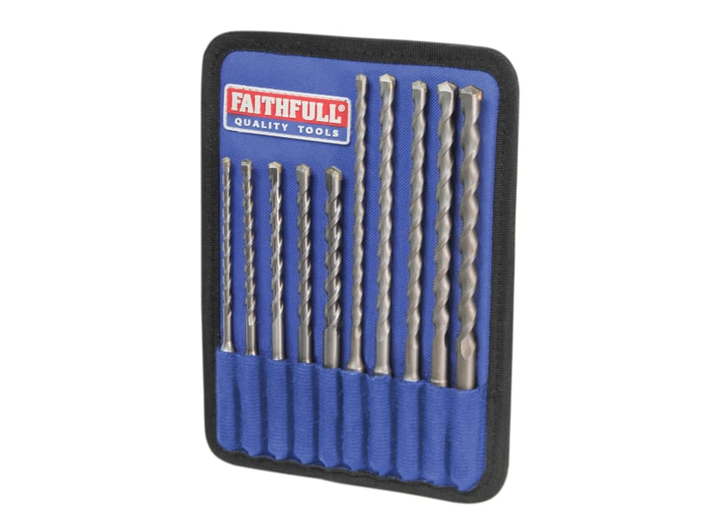 Faithfull SDS Plus Drill Bit Set, 10 Piece