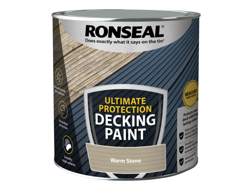 Ronseal Ultimate Protection Decking Paint Warm Stone 2.5 litre