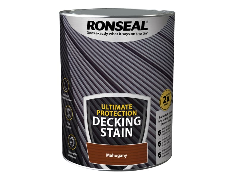 Ronseal Ultimate Protection Decking Stain Rich Mahogany 5 litre