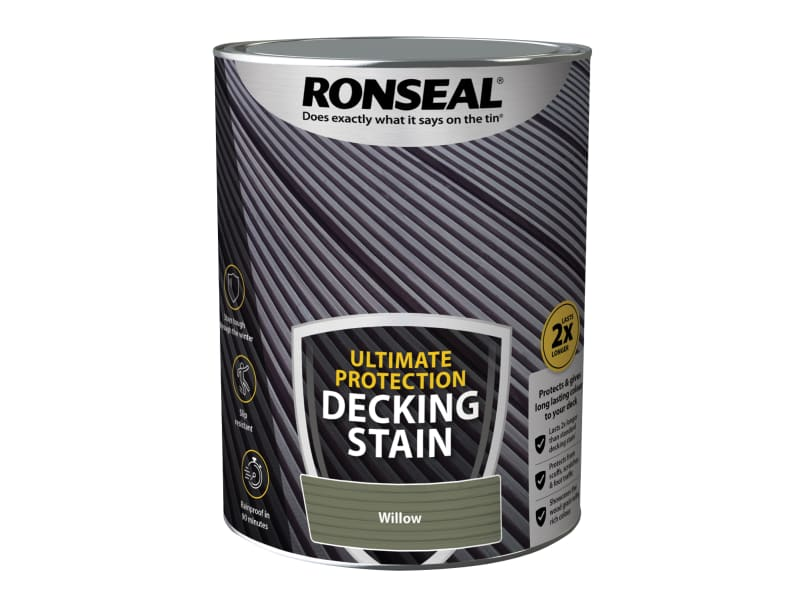 Ronseal Ultimate Protection Decking Stain Willow 5 litre