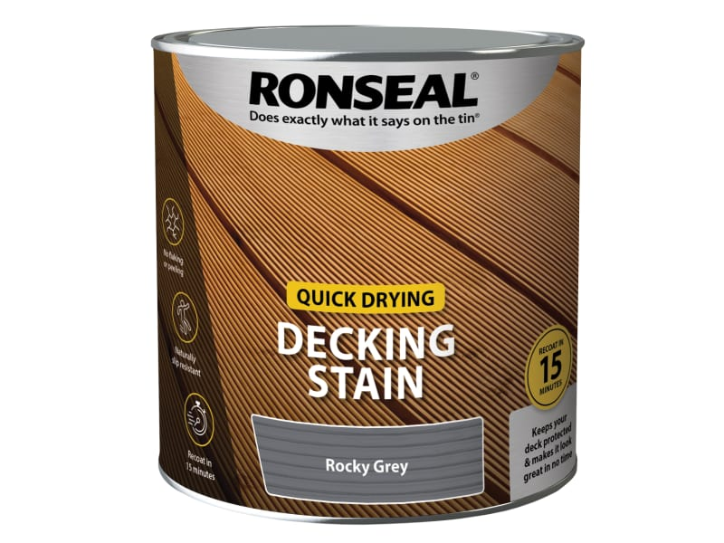 Ronseal Quick Drying Decking Stain Rocky Grey 2.5 litre