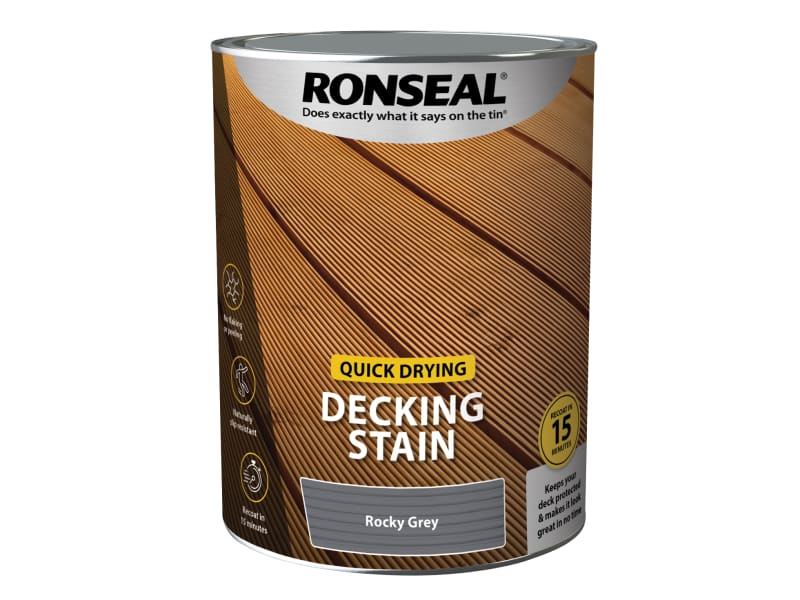 Ronseal Quick Drying Decking Stain Rocky Grey 5 litre