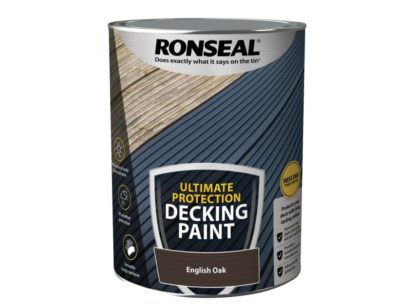 Ronseal Ultimate Protection Decking Paint English Oak 5 litre