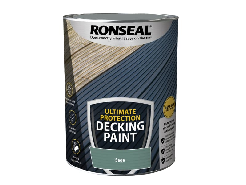 Ronseal Ultimate Protection Decking Paint Sage 5 litre