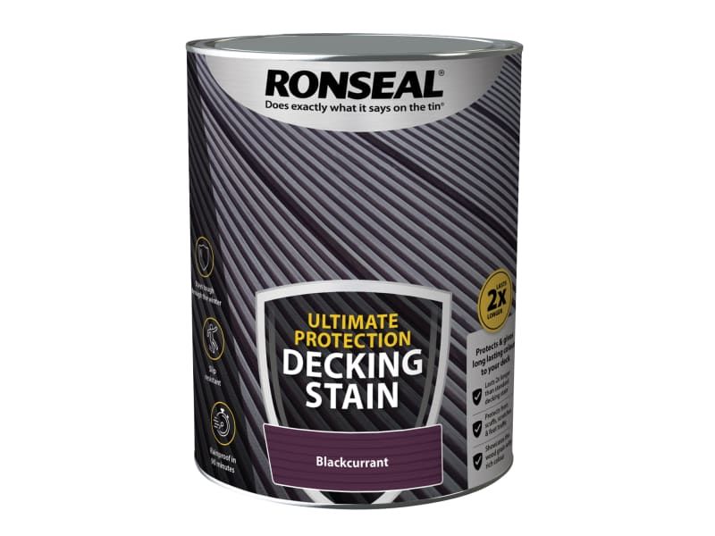 Ronseal Ultimate Protection Decking Stain Blackcurrant 5 litre