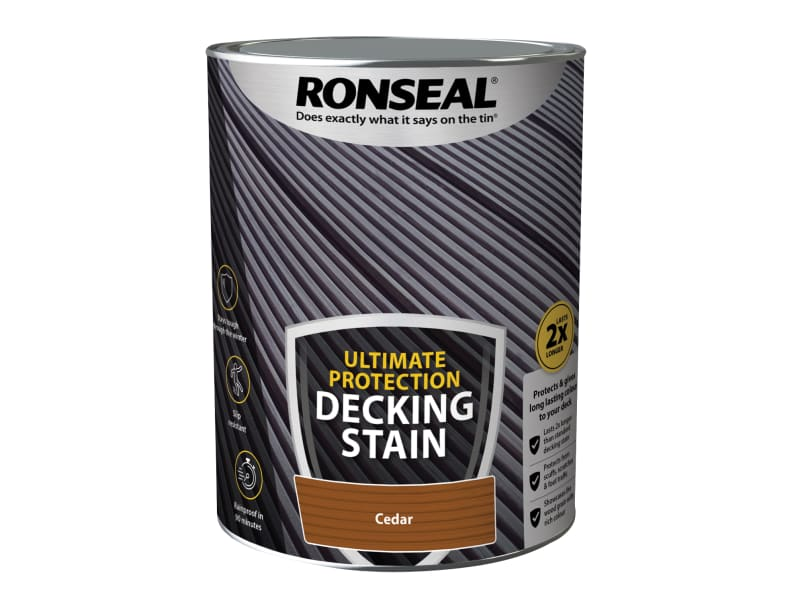 Ronseal Ultimate Protection Decking Stain Cedar 5 litre