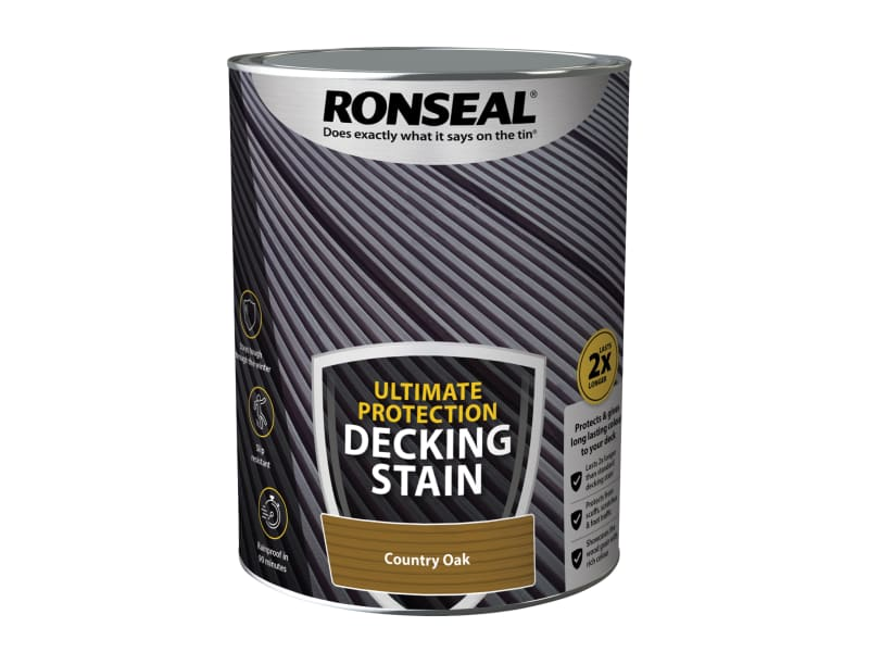 Ronseal Ultimate Protection Decking Stain Country Oak 5 litre