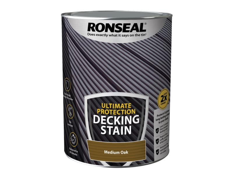 Ronseal Ultimate Protection Decking Stain Medium Oak 5 litre