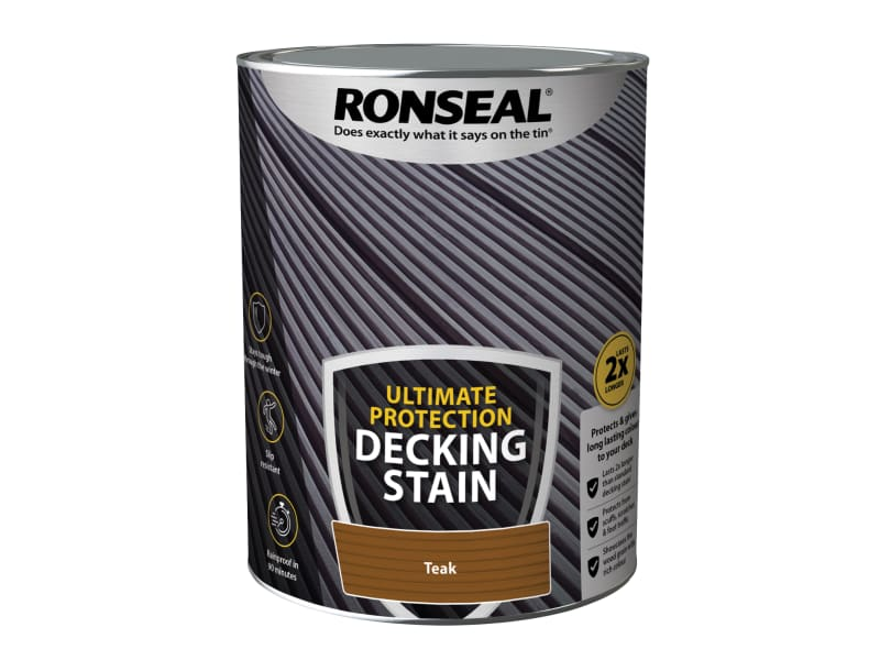 Ronseal Ultimate Protection Decking Stain Rich Teak 5 Litre