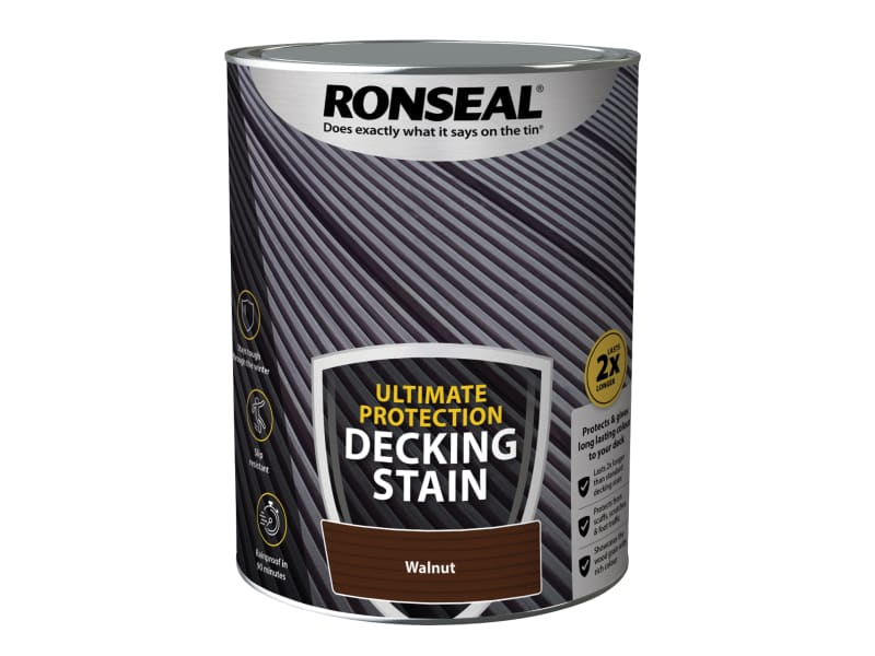 Ronseal Ultimate Protection Decking Stain Walnut 5 litre