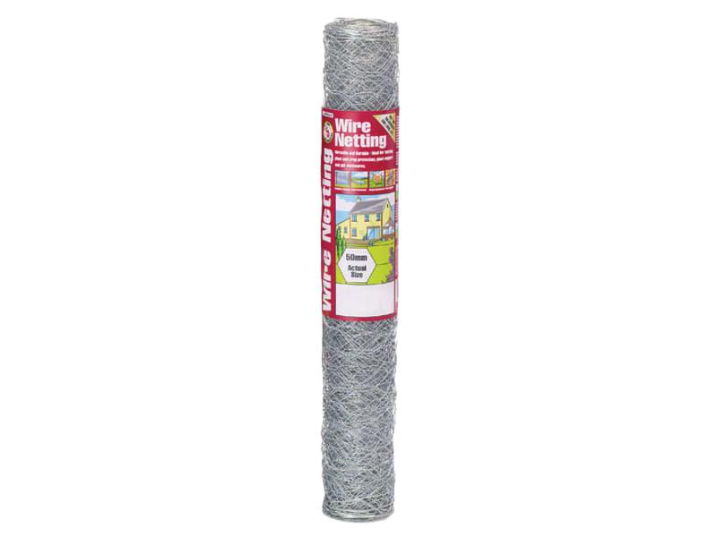 Galvanised Wire Netting 50mm Hexagon, 10 X 0.6m