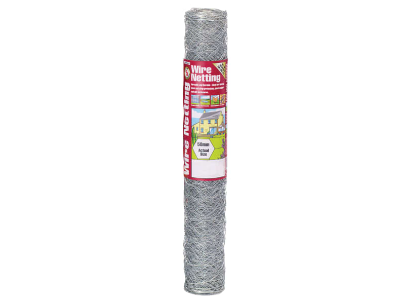 Gardman Galvanised Wire Netting 50mm Hexagon, 10 x 0.9m