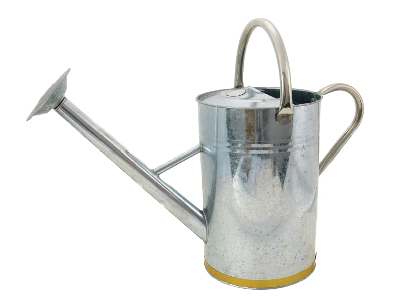 Kent & Stowe Metal Watering Can Galvanised Steel 9 litre