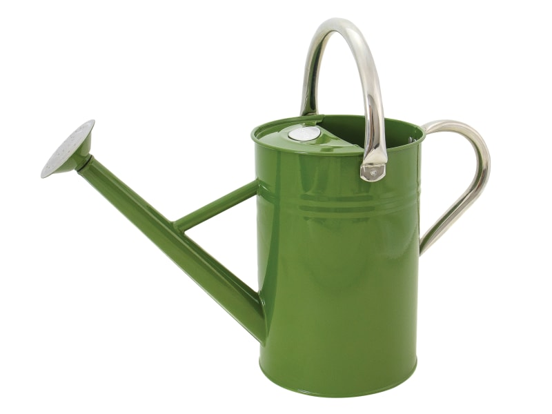 Kent & Stowe Metal Watering Can Tweed Green 4.5 litre