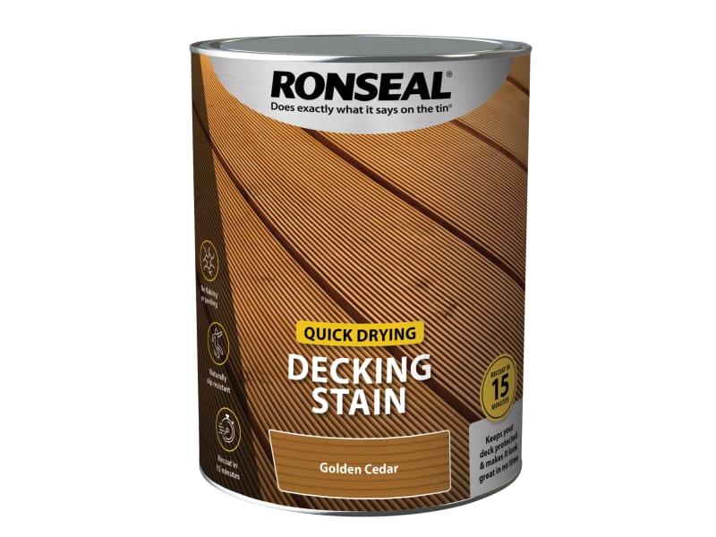 Ronseal Quick Drying Decking Stain Golden Cedar 5 Litre