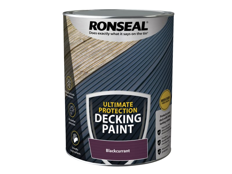 Ronseal Ultimate Protection Decking Paint Blackcurrant 5 litre